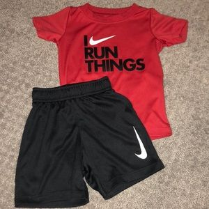 Baby Nike outfit gently used